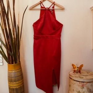 Angel Biba Red Dress with Straps New With Tags